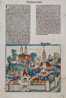Antike Landkarten, Schedel, Mittlerer Osten, Syrien, Damaskus, 1493: Damascus