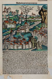 Antique Maps, Schedel, Germany, Hesse, North Rhine-Westphalia, 1493: Westvalia germanie provincia / Hassia germanie pvincia