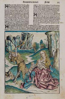 Grafiken, Schedel, Heiliges Land, Adam und Eva min Kain und Abel, 1493: [Adam and Eve with Cain and Abel]
