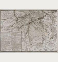 Plan, ou Carte Particuliere representant les divers Mouvements des Armees des Alliees, sous le Commandement de S. A. S....