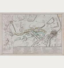 2e. Plan de la Bataille de Laveld. Gagnée Par le Roy le 2. Juillet 1747.
