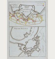 Attaques du Chemin Couvertde Berg-op-Zoom / Plan de Heusden.