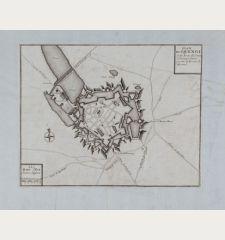 Plan Du Quenoi Ville Forte du Comte d Kainaut Situee proche la Forest de Mormal