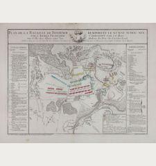 Plan de la Bataille de Fontenoy remportee le XI May MDCCXLV par l'Armee Francoise Commandee par le Roy sur Celle des Alliez...