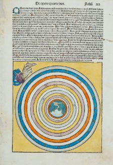 Graphics, Schedel, Creation, 1493: In Principio creavit Deus celum et terra...
