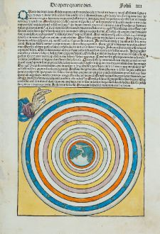 Grafiken, Schedel, Heiliges Land, Schöpfung, 1493: In Principio creavit Deus celum et terra...