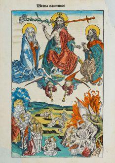 Grafiken, Schedel, Das Jüngste Gericht, 1493: Ultima etas mundi [The Last Judgement]