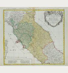 Status Ecclesiastici nec non Magni Ducatus Toscanae Nova Tabula Geographica ...