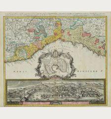 Carta Geographica, la quale rappresenta lo Stato della Republica di Genova / Der Staat von der Republic Genova