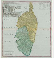 Insulae Corsicae Accurata Chorographia Tradita Per I. Vogt Capit. S. C. M. et excusa Studio Homannian. Heredum / Norib....