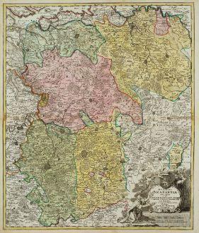 Antike Landkarten, Homann, Belgien, Brabant, 1720: Ducatus Brabantiae Nova Tabula
