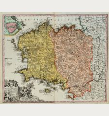 Tabula Ducatus Britanniae Gallis Le Gouvernemt. General De Bretagne ...