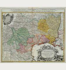 Gubernatio Generalis Languedociae occitania olim dictae in 3. generales divisae Locumtenentias