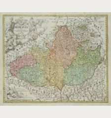 Tabula Generalis Marchionatus Moraviae in Sex Circulos Divisae ...