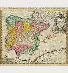 Regnorum Hispaniae et Portugalliae tabula generalis de l'Isliana / El Reyno de Espanna ...