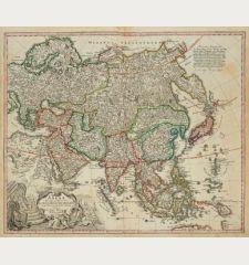 Asiae Recentissima Delineatio, qua Status et Imperia Totius Orientis Unacum Orientalibus Indiis Exhibentur