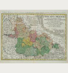Ducatus Silesiae Tabula Geographica Prima Inferiorem Eius Partem / La Basse Silesie