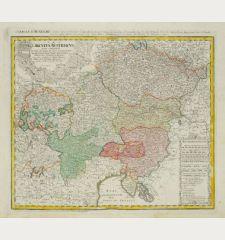 Circulus Austriacus quem coponunt Archid Austríae, Ducatus Stitiae, Carinthiae, Carnioliae, Comit Tyrolensis ...