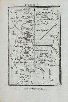 Antique Maps, Bordone, British Islands, England and Wales, 1528-1565: [British Isles and England & Wales]