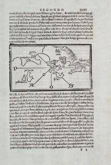 Antike Landkarten, Bordone, Italien, Campania, Neapel, Ischia, 1528-1565: [Campania, Napoli, Ischia, Salerno]