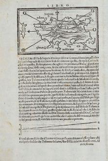 Antike Landkarten, Bordone, Italien, Sardinien, Sardegna, 1528-1565: [Sardigna, Sardinia, Sardegna]