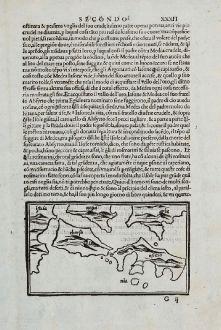 Antique Maps, Bordone, Balkan, Croatia, Dalmatia, Losinj, Cres, Ossero, Krk: [Losinj, Cres, Ossero, Trogir, Svetac, Brac, Ciovo]