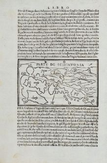 Antike Landkarten, Bordone, Balkan, Chioggia, Mazzorbo, Krk, Kres, Rab, Pag: Parte de Schiavonia, Mazorbo, Chiozza