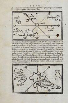 Antike Landkarten, Bordone, Ostafrika, Madagaskar, Sri Lanka, 1528-1565: [Maidegascar, Zanzibar, Scorsia, Inebila, Imangla, Scilam, Dondina]