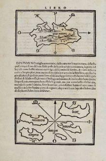 Antike Landkarten, Bordone, Südost Asien, Indonesien, Sumatra, Thailand, Borneo: [Java Minore]