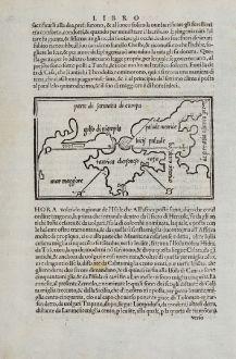 Antike Landkarten, Bordone, Ukraine, Krim, 1528-1565: Taurica chersonso