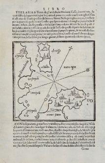 Antique Maps, Bordone, Greece, Aegean, Gökceada, Bozcaada, Samothrace, Athos: Monte Santo, El Tasso, Lembro, Samotracia, Tenedo