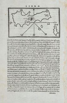 Antique Maps, Bordone, Greece, Aegean Sea, Anafi, Therasia, Santorini: Namphio, Giera, Apanomerca, S. Saluadore, Scaro, Tiresia, Apronisi
