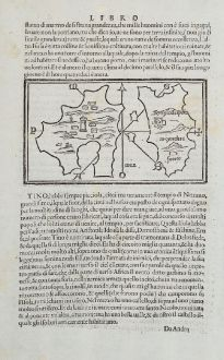 Antique Maps, Bordone, Greece, Aegean Sea, Cyclades, Delos, 1528-1565: Sdile
