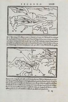Antique Maps, Bordone, Balkan, Adria, Dalmatia, Hvar, Korcula, Tremiti: Liezena, Curzola, S. ma de Tremidi