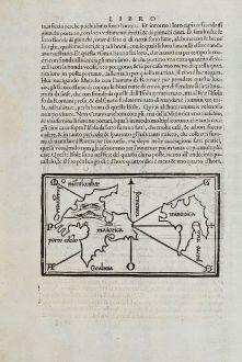 Antique Maps, Bordone, Spain - Portugal, Balearic, Ibiza, Formentera, Menorca, Mallorca: Maiorica, Minorica, Ieniza, Formentaria