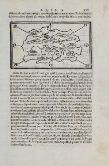 Antike Landkarten, Bordone, Spanien - Portugal, Kanaren, Madeira, 1528-1565: [Madeira and Canary Islands]
