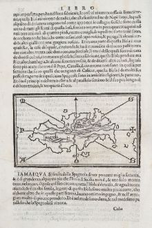 Antique Maps, Bordone, Central America - Caribbean, Hispaniola, Haiti: Spagnola, Isabella