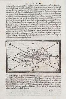 Antike Landkarten, Bordone, Mittelamerika - Karibik, Hispaniola, Haiti: Spagnola, Isabella