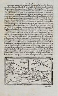 Antique Maps, Bordone, Central America - Caribbean, Jamaica, Hispaniola: [West Indies, Jamaica, Hispaniola and South America]