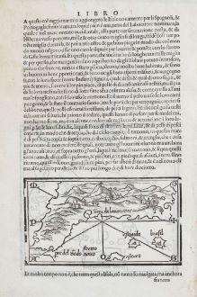 Antike Landkarten, Bordone, Nordamerika, 1528-1565: Terra de lavoratore