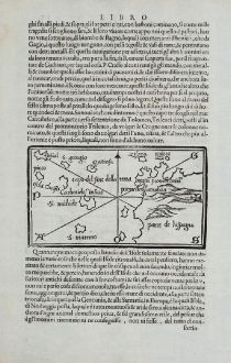 Antike Landkarten, Bordone, Spanien - Portugal, Azoren und Bretagne, 1528-1565: [Azores, Bretagne]