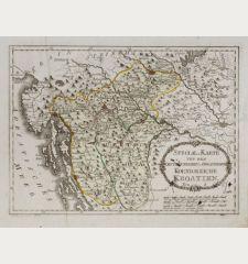Special-Karte von dem Oestreichischen u. Osmanischen Koenigreiche Kroatien.