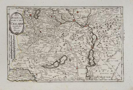 Antike Landkarten, von Reilly, Österreich - Ungarn, 1791: Des Königreichs Ungarn westlicher Theil
