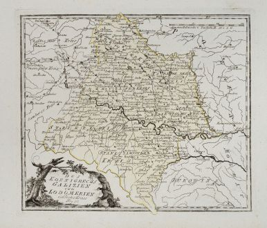 Antique Maps, von Reilly, Poland, Galicia, 1791: Des Koenigreichs Galizien und Lodomerien östliche Kreise.