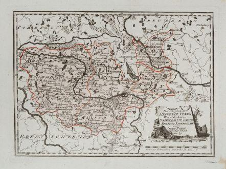 Antique Maps, von Reilly, Poland, 1791: Der königlichen Republik Polen Woiwodschaften Posen, Kalisz, Gnesen, Brzesc, u. Inowroclae oder Gross Polen westlicher...