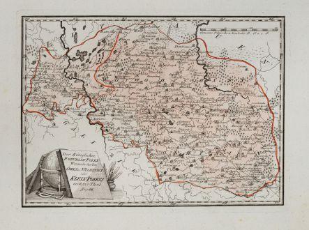 Antique Maps, von Reilly, Poland, 1791: Der Königlichen Republik Polen Woiwodschaften Chelm u. Wolhynien.