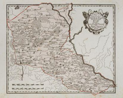 Antike Landkarten, von Reilly, Ukraine, Kiew, 1791: Der Koniglichen Republik Polen Woiwodschaft Kiow das ist die obere Polnische Ukraine oder Klein Polens Theil