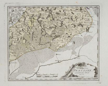 Antike Landkarten, von Reilly, Polen, Masuren, 1791: Des Königreichs Preussen ostsüdlicher Theil