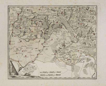 Antike Landkarten, von Reilly, Polen, Kujawien-Pommern, 1791: Das Königreich Preussen westsüdicher Teil mit der freyen Stadt Thorn