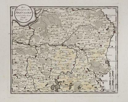 Antique Maps, von Reilly, Baltic, Prussia, Tschernjachowsk, Kaliningrad: Des Königreichs Preussen nordöstlicher Theil